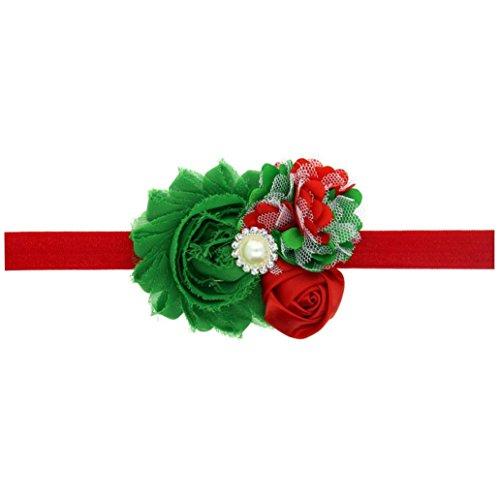 DEESEE(TM) Hairband Baby Girl Christmas Ornaments Headdress Elastic Hair Band (B)