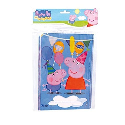 Peppa Pig - 10 bolsas rectangular 17x25 cm (Verbetena 016000716)