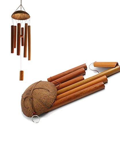 hand gemachte einzigartig und k nstlerische bambus wind chime kokos holz wind bell. Black Bedroom Furniture Sets. Home Design Ideas