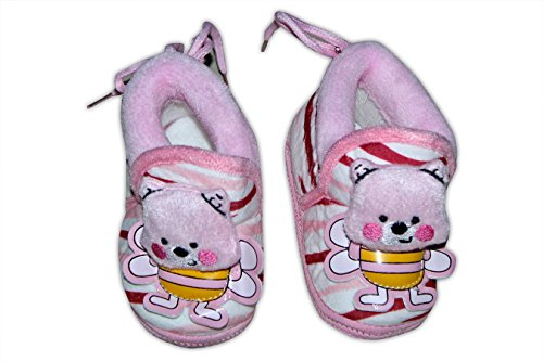 Baby Station Booties Winter Warm Girl Boys Shoes First Walker Training Shoes Bunny Face(0-6 M) (Pink)  available at amazon for Rs.275
