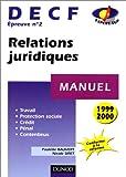 echange, troc Paulette Bauvert - Relations juridiques: Manuel DECF (épreuve n° 2), travail, protection sociale, crédit, pénal, contentieux