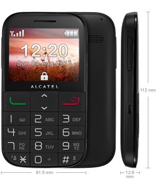 T�l�phone GSM ALCATEL ONE TOUCH 2000 NOIR