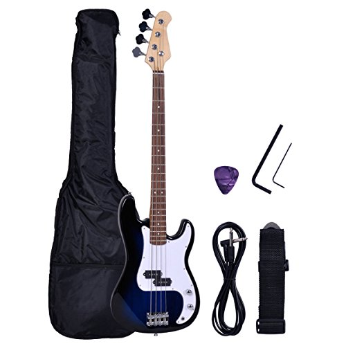 Goplus® Blue Full Size 4 String Electric Bass Guitar
