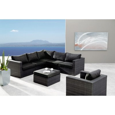 BEST 98896053 Loungegruppe 6-teilig Lounge-Set Aruba, anthrazit / grau