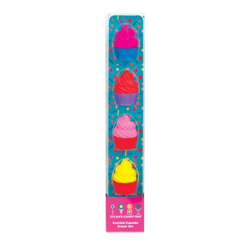 Dylan's Candy Bar Scented Cupcake Eraser Set