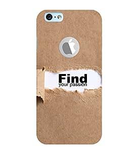 EPICCASE Find yoursefl Mobile Back Case Cover For Apple iPhone 6, 6S Logo Cut (Designer Case)