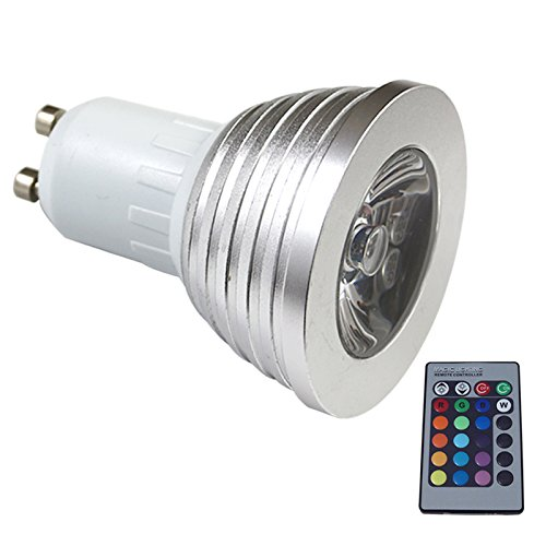 S6Store® Rgb 16 Colors 3W Gu10 Changing Remote Control Holiday Flash Party Led Spot Downlight Christmas
