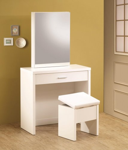 Strange 2Pc Vanity Table Set With Vanity Table Storage Mirror And Alphanode Cool Chair Designs And Ideas Alphanodeonline