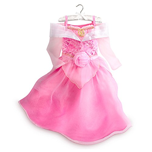 Disney Store Little Girls Sleeping Beauty Princess Aurora Costume Pink