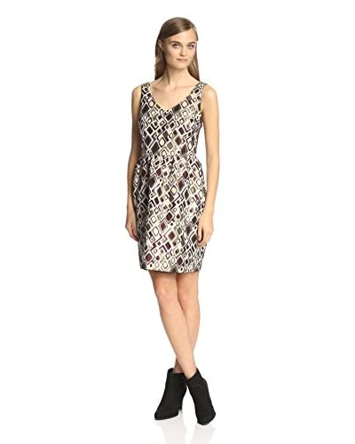 Beatrice B. Women's V-Neck Jacquard Dress