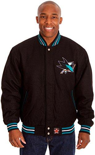 San Jose Sharks Mens Black Wool & Nylon Reversible Jacket (X-Large)