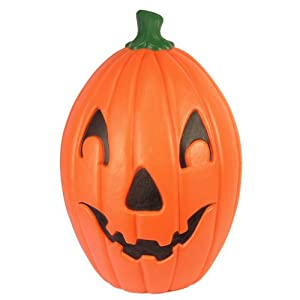 Plastic Halloween Jack-O-Lantern Pumpkin Lawn Ornament Yard Decoration by Union Products: Nearly 2 ft tall ~ Made in the USA