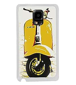 Yellow Vespa 2D Hard Polycarbonate Designer Back Case Cover for Samsung Galaxy Note 4 :: Samsung Galaxy Note 4 N910G :: Samsung Galaxy Note 4 N910F N910K/N910L/N910S N910C N910FD N910FQ N910H N910G N910U N910W8