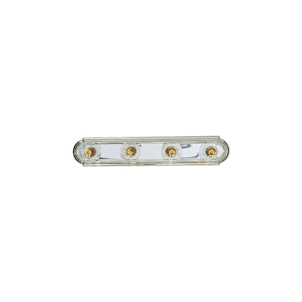 Progress Lighting P3025 15 4 Light Embossed Wall Mount Bracket Sockets Are On 6 Inch Centers and Wall Mount Only, Polished Chrome