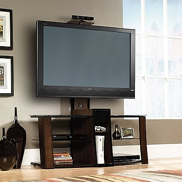 Sauder Studio TV Stand Credenza in Cherry and Black Finish picture B00C7OMJW4.jpg