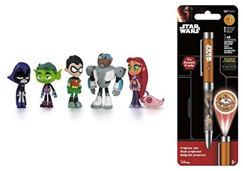 "Super Hero Teen Titans Go 2"" Hero Series Mini Action Figures Toys 6 Pack"