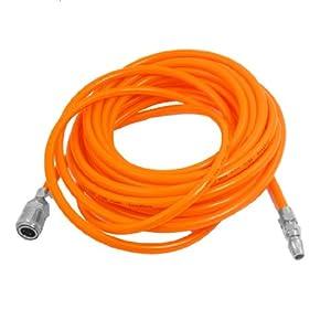 8mm x 5mm Polyurethane PU Air Compressor Hose Tube Orange Red 9M - Air ...