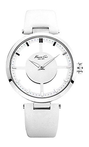 kenneth-cole-kc2609-transparency-montre-femme-quartz-analogique-cadran-blanc-bracelet-cuir-blanc