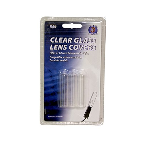 Clear glass lens covers for fountain lights home garden for Decorative fish pond covers