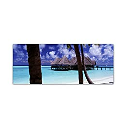Trademark Fine Art The Bar-Gili Lankanfushi Wall Decor by David Evans, 16 x 47\