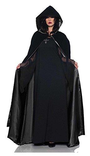 [Cape Deluxe Velvet Satin] (Velvet Gothic Cloak 63 Deluxe Costumes)