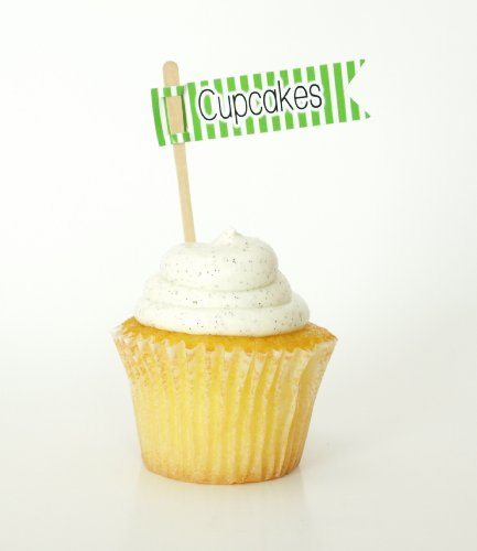 """""""Cupcakes"""" Cupcake Picks, Green (Set Of 12) - St Patrick'S Day Parties Or Garden Event Cupcake Toppers front-881732"""