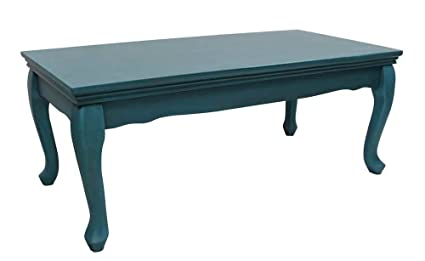 Indoor Coffee Table in Teal Finish