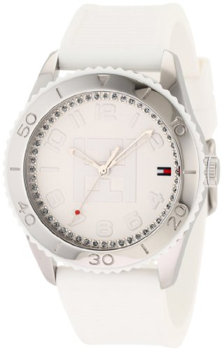 Tommy Hilfiger Women's 1781122 Sport Stainless Steel White Silicon Watch