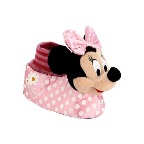 Disney Toddler Girls Pink Minnie Mouse Slippers front-860492