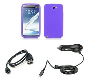 Amazon.com: Samsung Galaxy Note II Combo - Purple Silicone Gel Cover