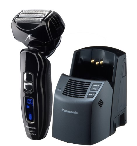 41HPul5SkpL Panasonic ES LA93 K Mens 4 Blade (Arc 4) Multi Flex Dual Motor Wet/Dry Nanotech Rechargeable Electric Shaver with Vortex Cleaning System, Black