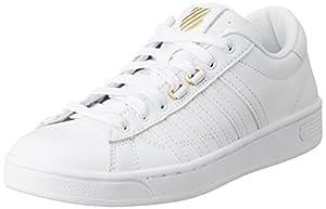 K-Swiss Women's Hoke 50th Athletic Shoe, White/Gold, 9.5 M US