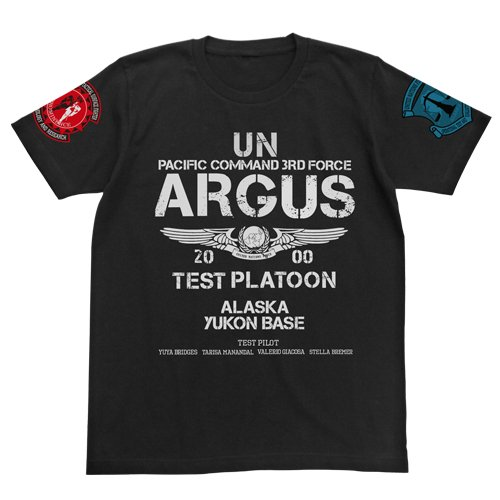 トータル・イクリプス アルゴス試験小隊Tシャツ ブラック サイズ:XL