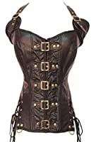 Dear-lover Women's Buckle-up Steampunk Corset