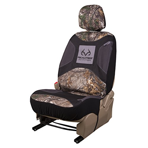 Realtree Low-Back Camo Bucket Seat Cover (Realtree Xtra Camo, Durable Polyester Fabric, Includes Headrest Cover, Sold Individually) (Head Cover Camo compare prices)