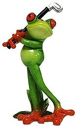Glazed Frog Golfer Finished Post-YX6016