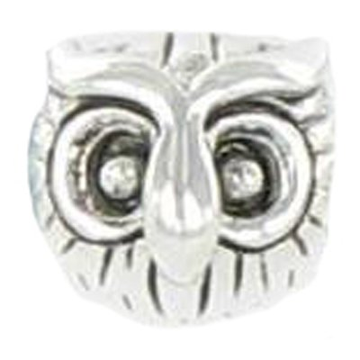 Quiges Fashion Jewellery 925 Sterling Silber Eule Bead für Bettelarmband für European Beads