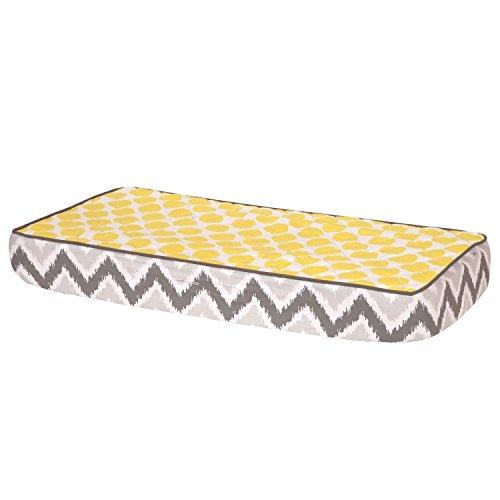 Bacati Ikat Zigzag Grey & Yellow Dots Changing Pad Cover