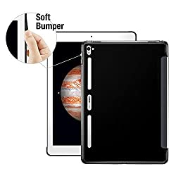 iPad Pro Case (12.9 Inch), ESR iPad Pro Slim Fit Shell Case [Perfect Match with Smart Keyboard] [Soft TPU Bumper] [Corner Protection] Back Cover for iPad Pro 12.9 inch 2015_Black