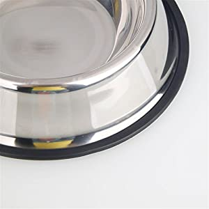 Advanced Anti-skidding Stainless Steel Food Bowl for Pet (22CM)