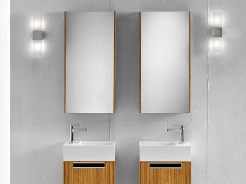 bester badm bel g nstig spiegelschrank wandschrank massivholz natur 40x80 sale. Black Bedroom Furniture Sets. Home Design Ideas