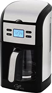 Russell Hobbs 14597 Filter Coffee Maker with Glass Jug - Stainless Steel/Black
