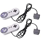 Lot 2 New Replacement Controller Pad for Super Nintendo SNES NES Grey UK