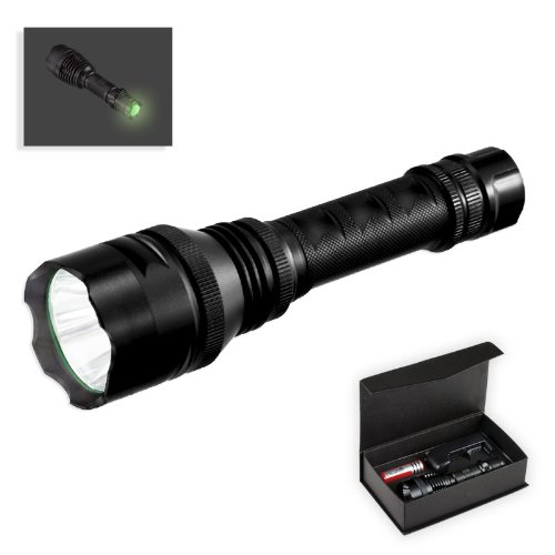 Cree T6 Ultra-Bright 600 Lumen Led Flashlight - Rechargeable Battery And Ac Charger