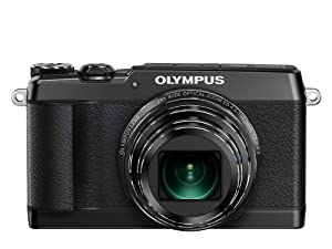 Olympus SH-1 Digital Compact Camera - Black (16MP, 24x Optical Zoom) 3 inch Touchscreen LCD