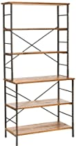 Big Sale Safavieh American Home Collection Devon Walnut and Antiqued Pewter Etagere