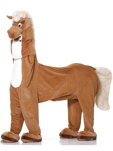 Mens Deluxe Plush Two-Man Horse Costume