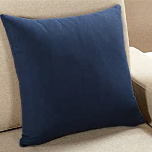 Decorative Pillow Covers With Zippers : Amazon.com: Smile Solid Color Decorative Pillow Covers for Couch or Bed with Invisible Zipper ...