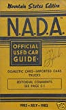 NADA Used Car Guide - Mountain States - July 1982