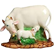 Matchless Gifts Polyresin Cow And Calf (14 Cm X 16 Cm X 22.5 Cm)
